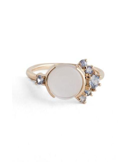 Mociun | White Moonstone & Sapphire Ring (nordstrom Exclusive) | Lyst