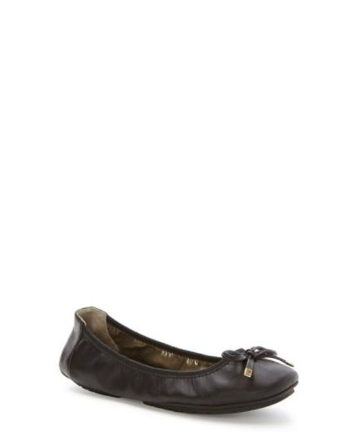 Me Too - Black Halle Leather Ballet Flats - Lyst