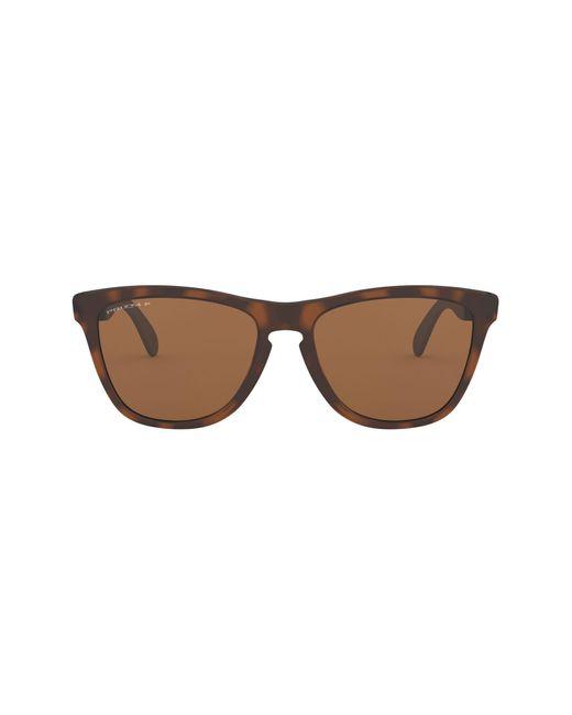 Oakley Brown 55mm Polarized Round Sunglasses for men