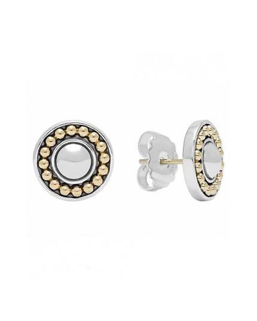 Lagos - Metallic 'enso' Two-tone Stud Earrings - Lyst