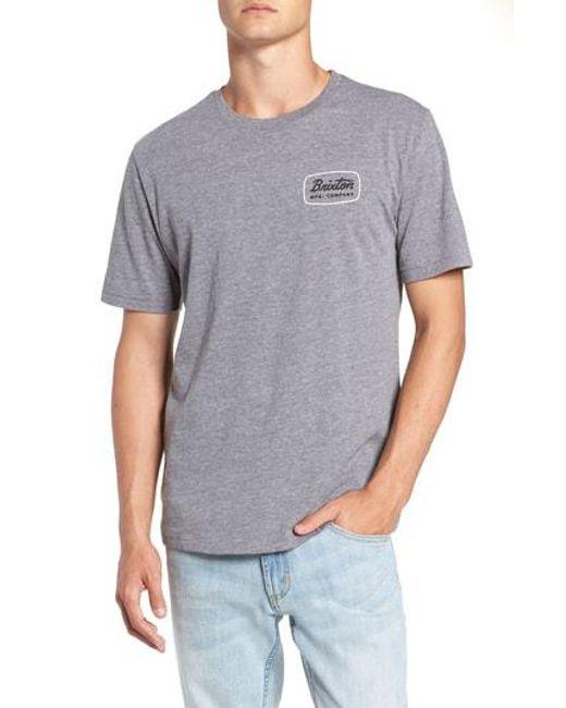 Brixton - White Jolt T-shirt for Men - Lyst