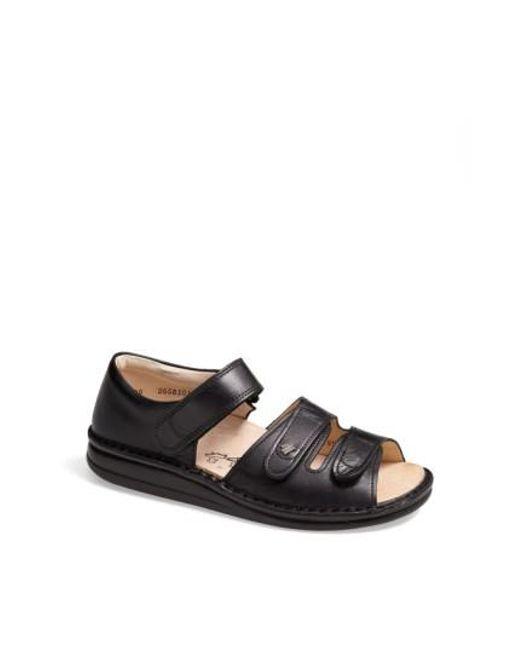 Finn Comfort | Black 'baltrum 1518' Leather Sandal | Lyst