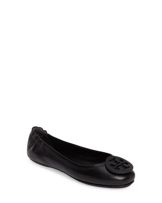 Tory Burch - Black Minnie Travel Ballet Flats - Lyst