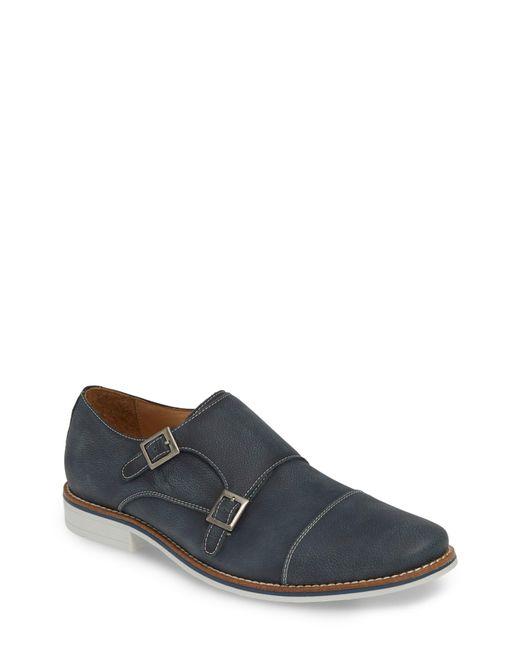 1901 Blue Camino Double Monk Strap Shoe for men