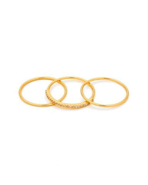 Gorjana | Metallic Shimmer Stackable Set Of 3 Band Rings | Lyst