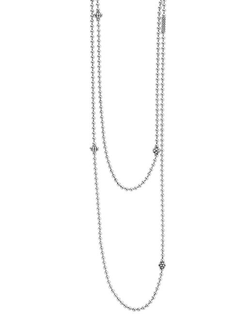 Lagos Metallic 'caviar Icon' Strand Necklace