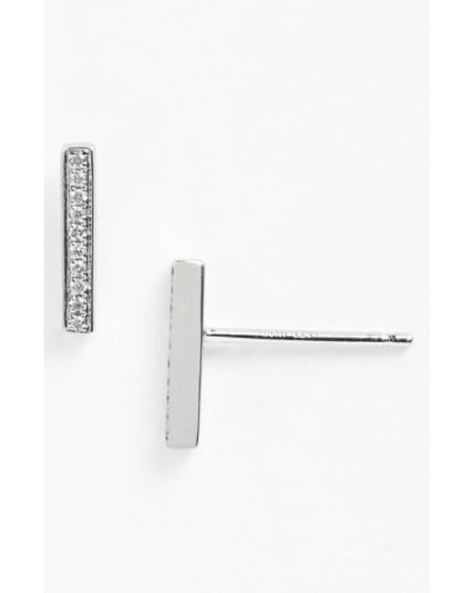 Bony Levy   White 'prism' Diamond Bar Stud Earrings (nordstrom Exclusive)   Lyst
