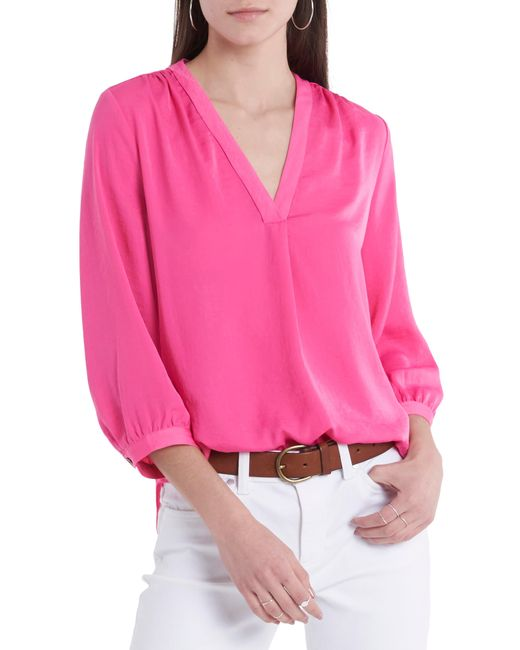 Vince Camuto Pink Rumple Fabric Blouse