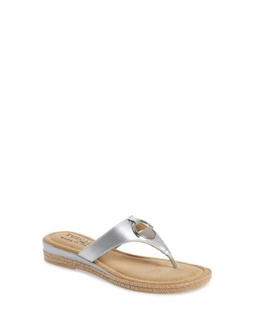 Easy Street - Metallic By Easy Street Belinda Flip Flop - Lyst
