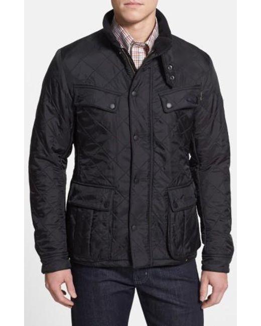 Barbour | Black 'ariel' Regular Fit Polarquilt Coat for Men | Lyst