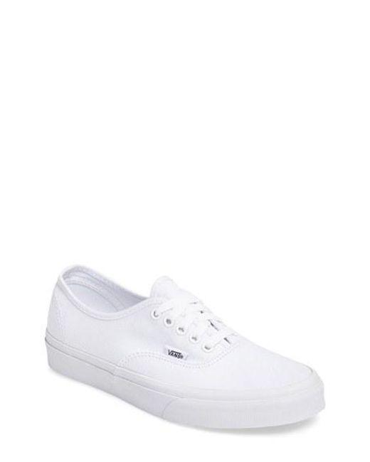 Vans | White 'authentic' Sneaker for Men | Lyst