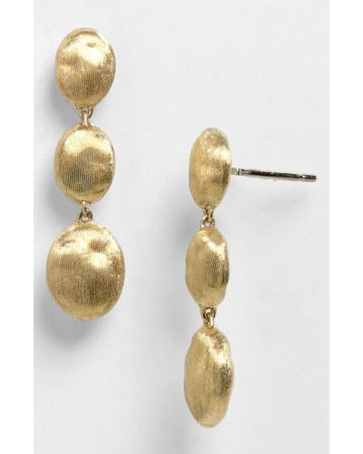 Marco Bicego | Yellow 'siviglia' Drop Earrings | Lyst