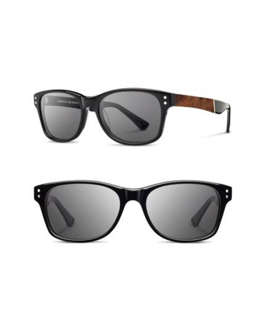 Shwood | Black 'cannon' 54mm Polarized Acetate & Wood Sunglasses for Men | Lyst