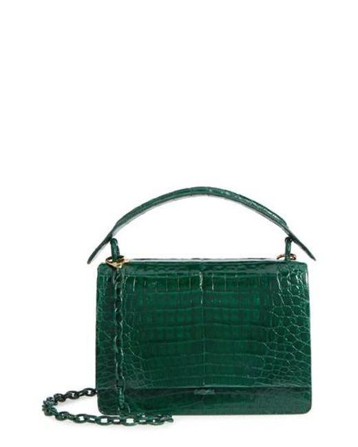 Nancy Gonzalez   Green Divino Genuine Crocodile Top Handle Bag   Lyst