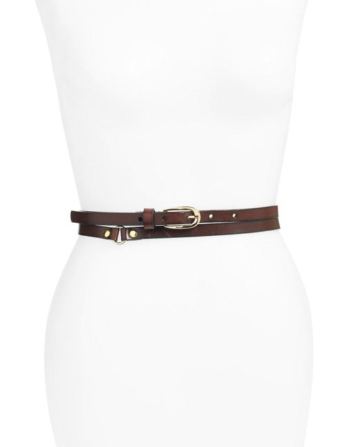Elise M - Brown 'charlize' Double Wrap Belt - Lyst