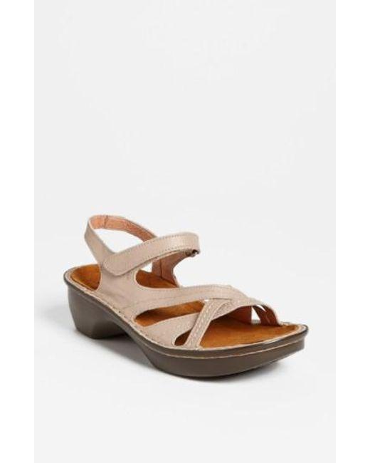Naot | Natural 'paris' Sandal | Lyst