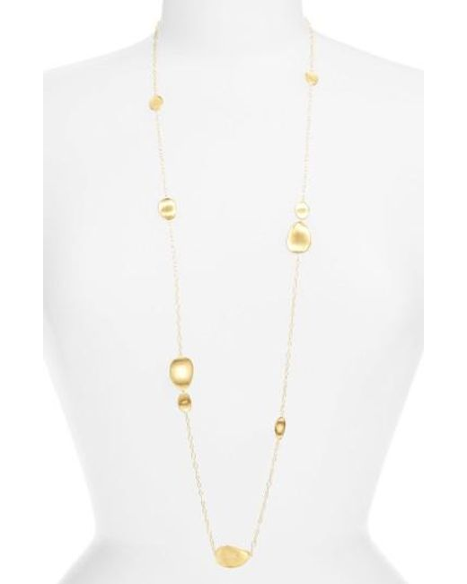 Marco Bicego - Metallic 'lunaria' Long Station Necklace - Lyst