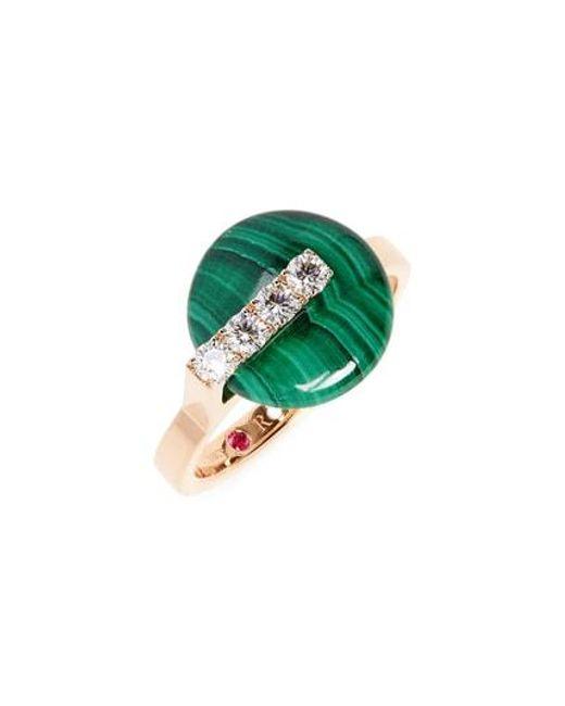 Roberto Coin - Green Jade Diamond Ring - Lyst