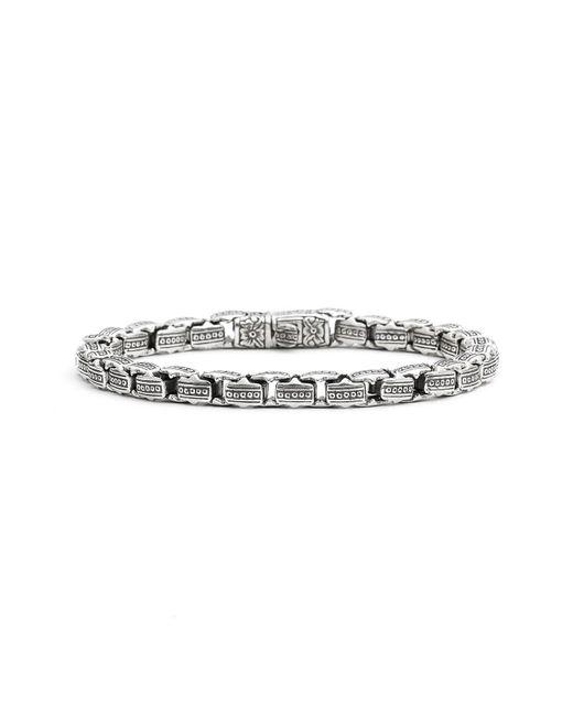 Konstantino - Metallic 'minos' Etched Dot Link Bracelet for Men - Lyst