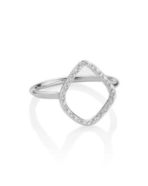 Monica Vinader | Metallic 'riva' Diamond Hoop Ring | Lyst