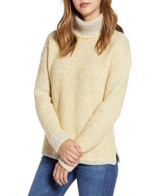 Caslon Yellow Caslon Turtleneck Sweater