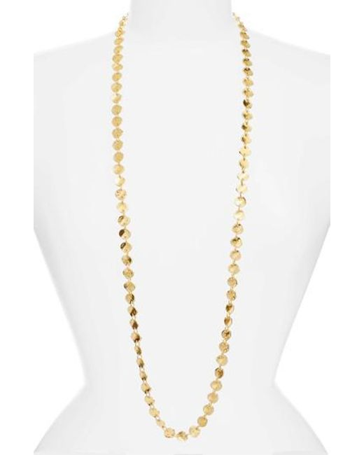 Karine Sultan | Metallic Sophia Long Necklace | Lyst
