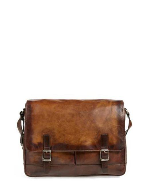 Frye - Brown 'oliver' Leather Messenger Bag for Men - Lyst