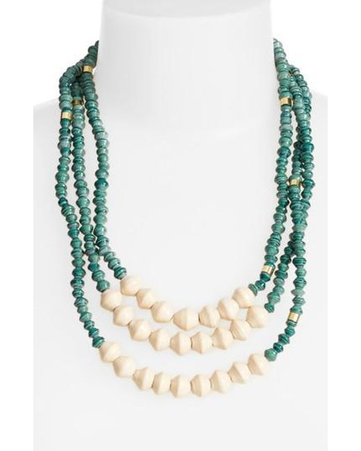 31 Bits - Green Emery Paper Bead Necklace - Lyst
