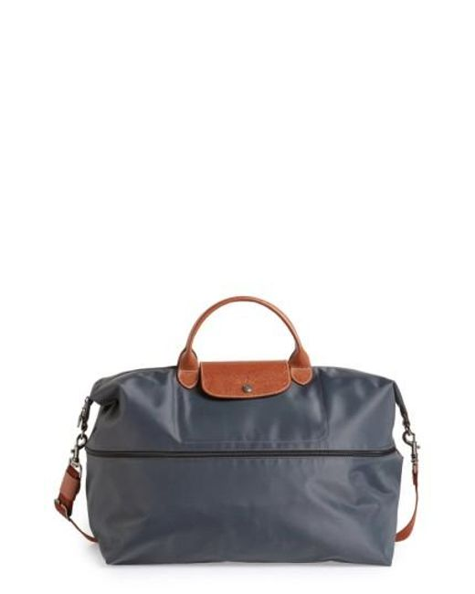 Longchamp | Metallic 'le Pliage' Expandable Travel Bag | Lyst