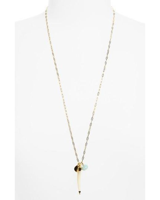 Elizabeth and James | Metallic Holly Cluster Pendant Necklace | Lyst