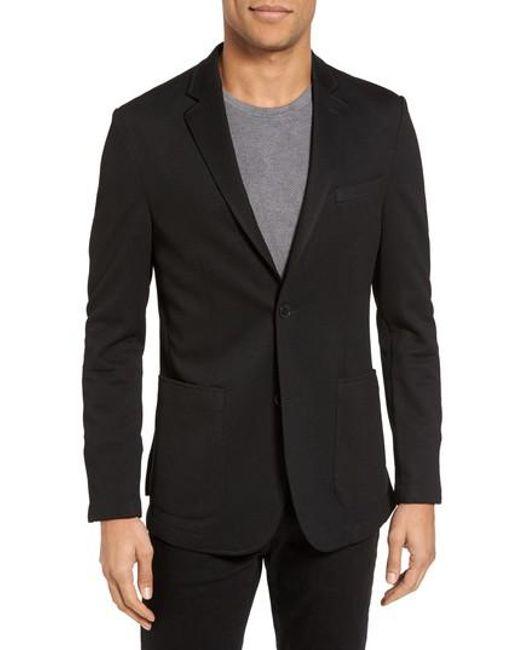 Vince Camuto - Black Slim Fit Stretch Knit Blazer for Men - Lyst