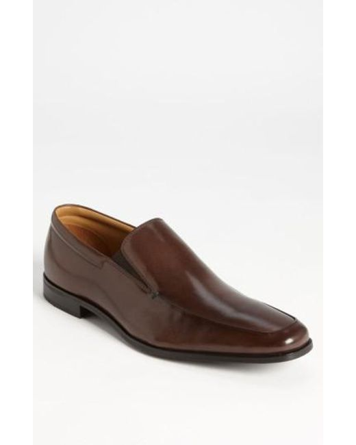 Gordon Rush | Brown 'elliot' Venetian Loafer for Men | Lyst