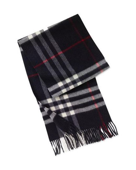 Burberry | Blue Heritage Check Cashmere Scarf for Men | Lyst