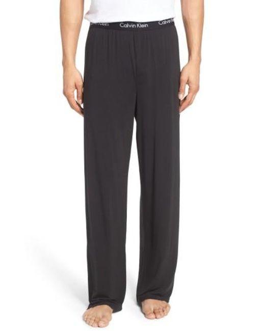 Calvin Klein | Black 'u1143' Micromodal Lounge Pants for Men | Lyst