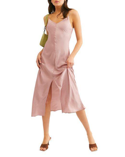 Free People Pink Smoke & Mirrors Maxi Slipdress