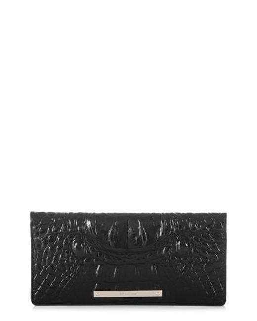 Brahmin - Black 'ady' Croc Embossed Continental Wallet - Lyst