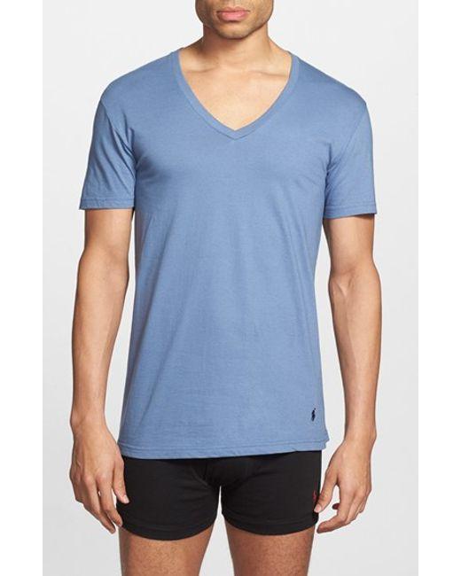 Polo Ralph Lauren | 3-pack V-neck T-shirts, Blue for Men | Lyst