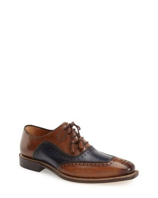 Mezlan | Brown 'cadiz' Brogue Oxford for Men | Lyst
