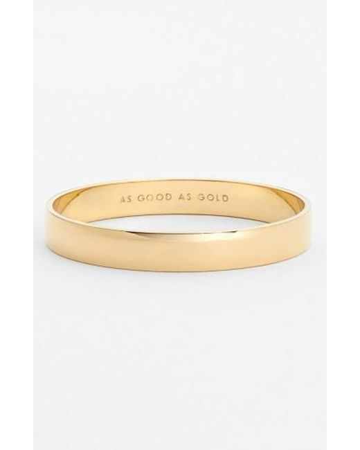 Kate Spade | Metallic 'idiom - Good As Gold' Bangle | Lyst