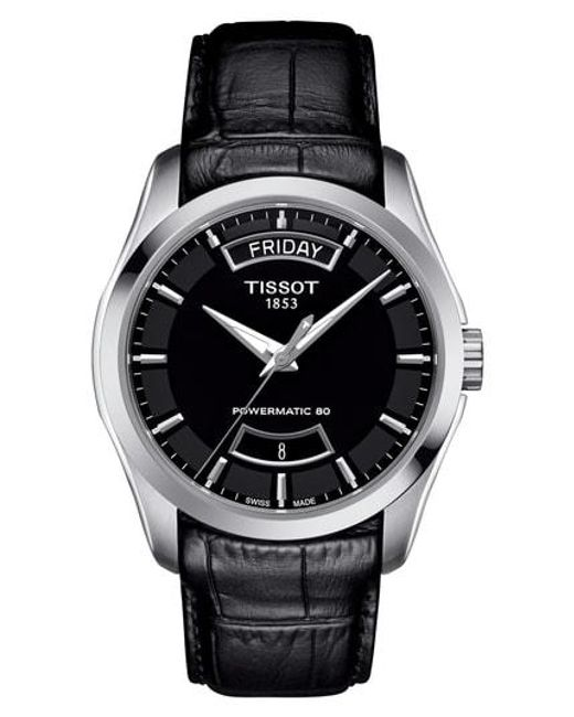 Tissot - Multicolor Couturier Automatic Leather Strap Watch for Men - Lyst