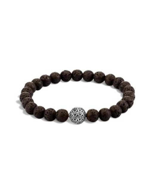 John Hardy | Black Men's Batu Classic Chain Volcanic Bead Bracelet for Men | Lyst