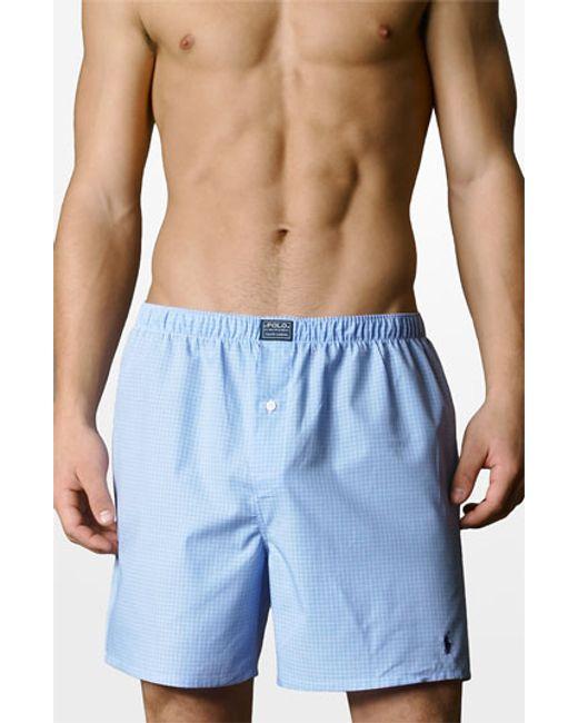 Polo Ralph Lauren | Blue Woven Boxer Shorts for Men | Lyst