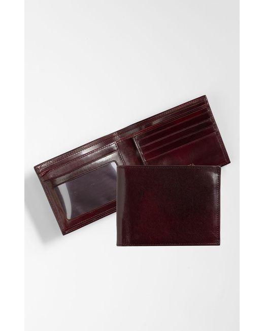Bosca Purple Id Flap Leather Wallet for men
