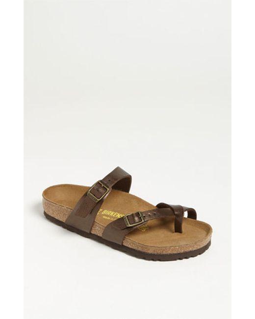 Birkenstock | Brown 'mayari' Birko-flor(tm) Sandal | Lyst