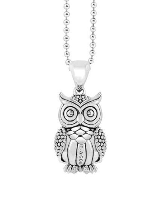 Lagos | Metallic 'rare Wonders - Owl' Long Talisman Necklace | Lyst