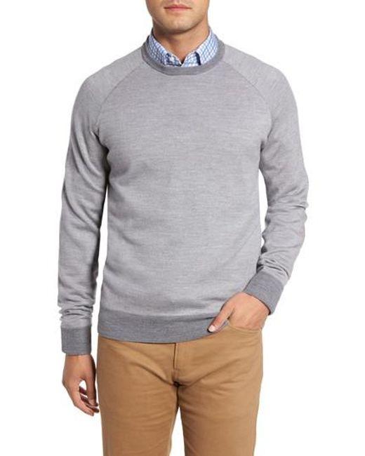 Peter Millar | Gray Soltice Merino Sweater for Men | Lyst