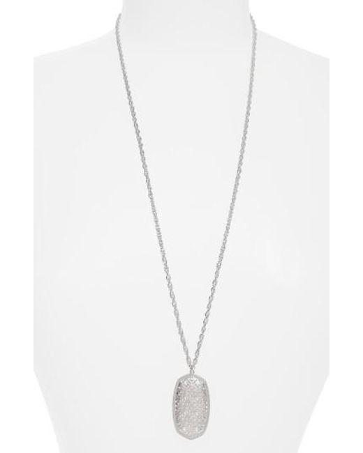 Kendra Scott | Metallic Rae Long Filigree Pendant Necklace | Lyst