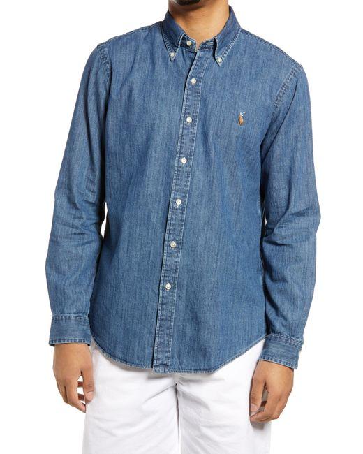 Polo Ralph Lauren Blue Denim Button-down Shirt for men