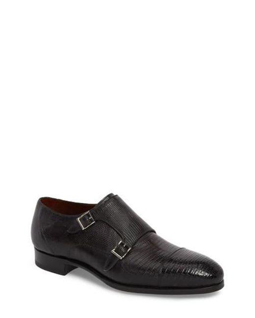 Magnanni Men's Pavo Lizard Leather Monk Shoe Osyd5