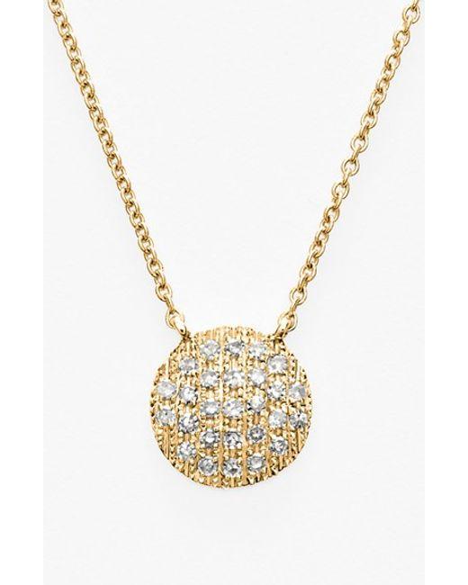 Dana Rebecca | Yellow 'lauren Joy' Diamond Disc Pendant Necklace | Lyst
